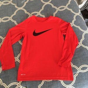 Boys long sleeve Nike top
